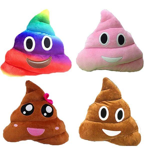 Almofada Decorativa Emoji Travesseiro Presente Bonito Merda Poop Travesseiros Boneca de Brinquedo de Presente de Natal Engraçado Plush Bolster 5 3bg WW