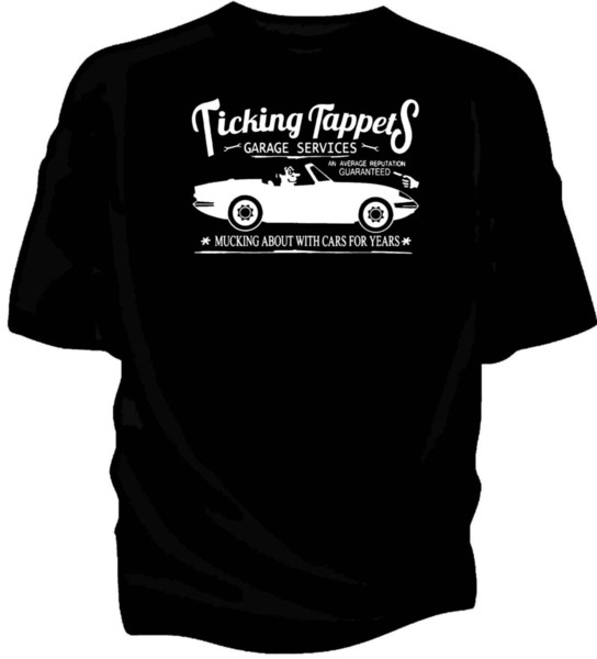 Details zu 'Ticking Tappets Garage Services' classic car humour t-shirt. Lotus Elan Sprint Funny free shipping Unisex Casual gift