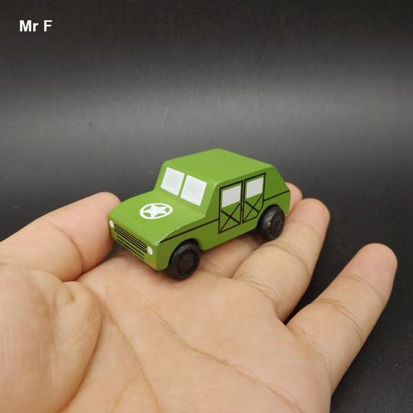 아이들을위한 절묘한 목조 자동차 의료 차량 장난감 군 지프 미니 학습 교육 교육 가제트를 학습