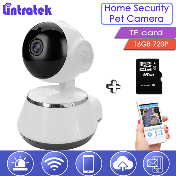 Lintratek Pet Camera Wireless Wi-Fi Baby Monitor with 16GB TF Card 720P Security Cam Mini cctv Home Monitoring Remote Control 39