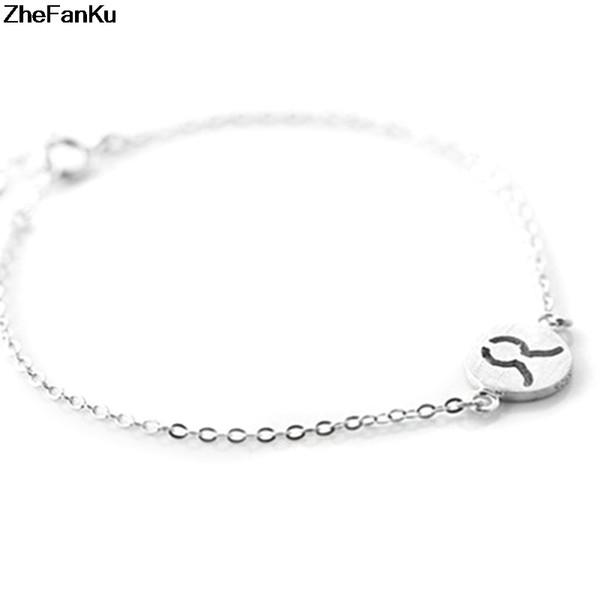 New Fashion Cuff Bracelets Twelve Constellations Bracelet For Women Trendy Capricorn Link Women Bracelets Zodiac Gift