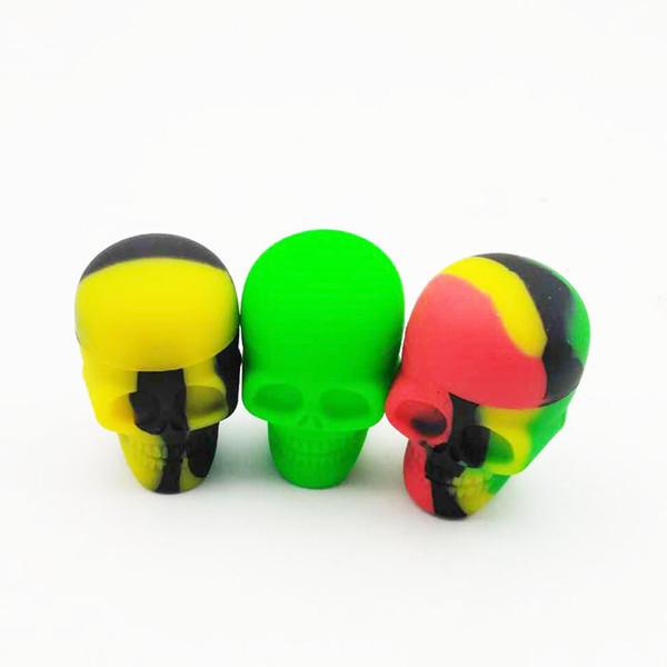 NUOVO cranio sigaretta elettronica scatola di olio di silicone sigaretta 15 ml serbatoio di stoccaggio di olio per fumare bong strumento di vetro spedizione gratuita