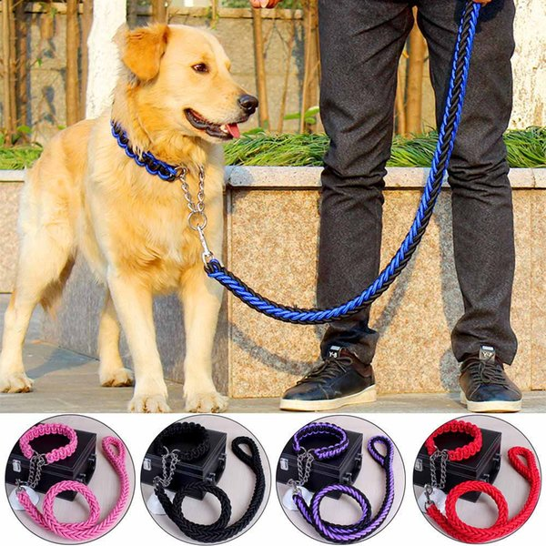 Nylon Dog Leash for Pet Dogs Training Pet Collar Adjustable Dog Puppy Leash Hot