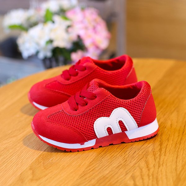 Brand New Spring and autumn M Mesh Breathable baby Toddler shoes children's running shoes black red pink grils boys sneakers