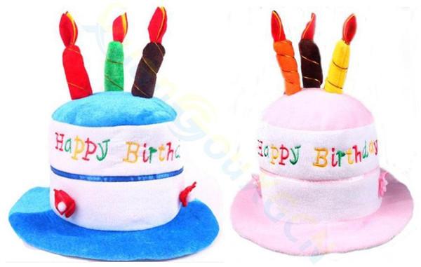Acheter Enfant Adulte Chapeaux D Anniversaire Gâteau Bougies Design Chapeau Costume De Fête D Anniversaire Chapeaux Accessoire Marchandises De Noël