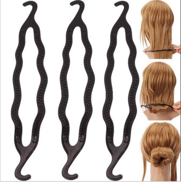 Capelli magici Coda di cavallo Creatore di capelli in plastica Parrucchiere Shaper Supporto per treccia Clip Strumento di torsione Clip di stile di torsione dei capelli 5000 pz