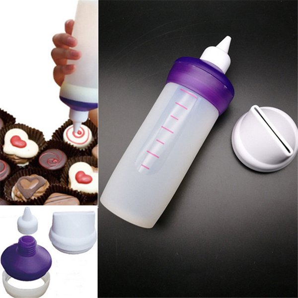 Silicone Bakeware Candy Melting Decorating Squeeze Bottle Kitchen DIY Accessories Cake Chocolate Decorating Tools Set EJ896454