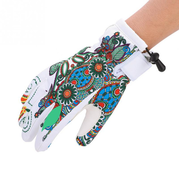 Winter Sports Gloves Men Women Windproof Waterproof Thick Thermal Warm Full Finger Polyester PU Leather Skating Skiing Gloves