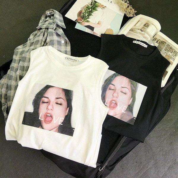 New Men Women Designer T Shirts Summer Casual Sleeveless T-shirt Loose Beach Vest Tide Brand Fitness Breathable 100% Cotton T Shirt
