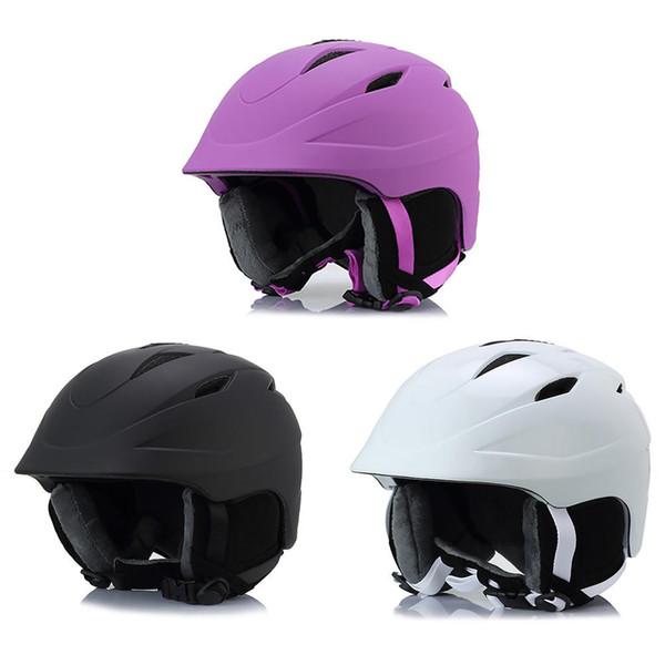 Unisex Skifahren Warm Atmungs Helm Erwachsene Furnier Reiten Motorrad Helm Blackpurplewhite Farbe Sport Schutzausrüstung