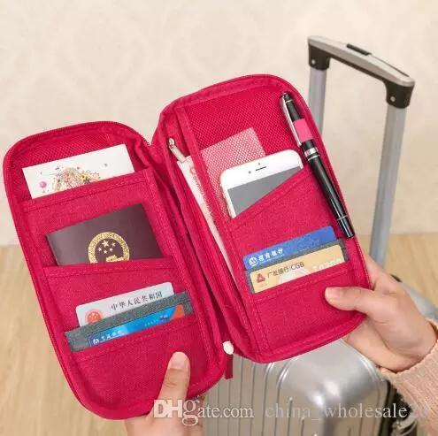 Free Shipping passport storage bag travel functional bag portable passport holder document organizer credit card ID card cash holder AJI-605