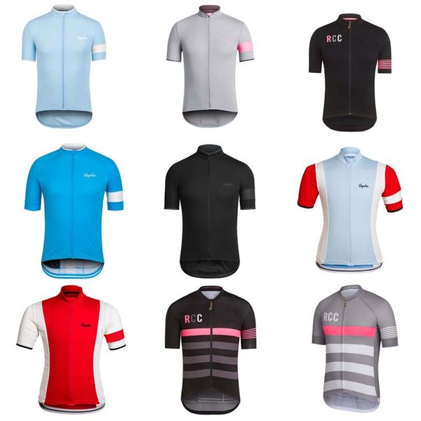 top popular Rapha Cycling Jerseys Short Sleeves Summer Cycling Shirts Cycling Clothes Bike Wear Comfortable Breathable Hot New Rapha Jerseys C1408 2019
