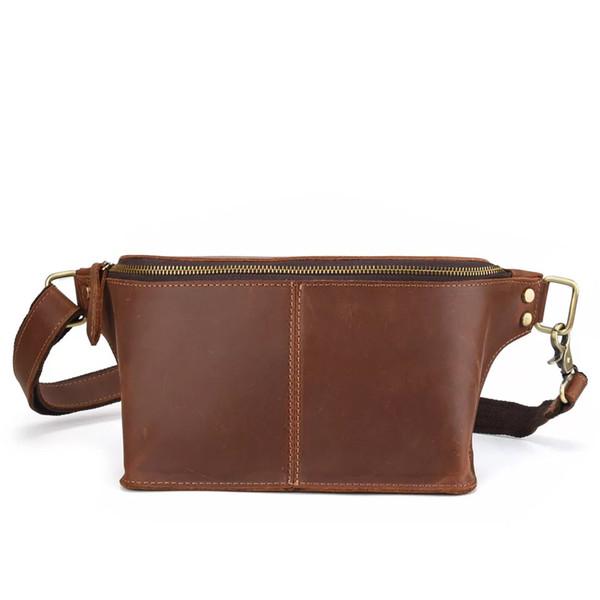 955a7a6ca971 cowboy man bag Coupons - Men Genuine Leather Vintage Messenger Crossbody Bag  Crazy horse leather Waist