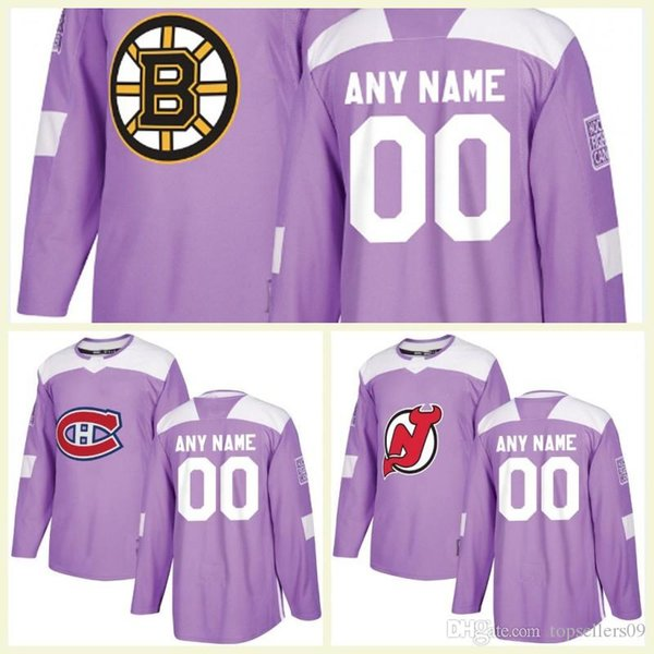 uk availability 4e4b0 657bc 2018 Customized Vegas Golden Knights Chicago Blackhawks Nashville Predators  Avalanche Canucks Purple Fights Cancer Practice Hockey Jerseys From ...