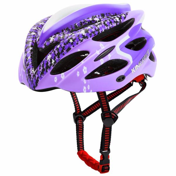 Acheter Kingbike Casques De Velo Chauds Pour Femme Adulte Ultralight 213g Rose Casque De Velo De Route Velo 2018 L 56 60cm Casque Cycliste Kask De