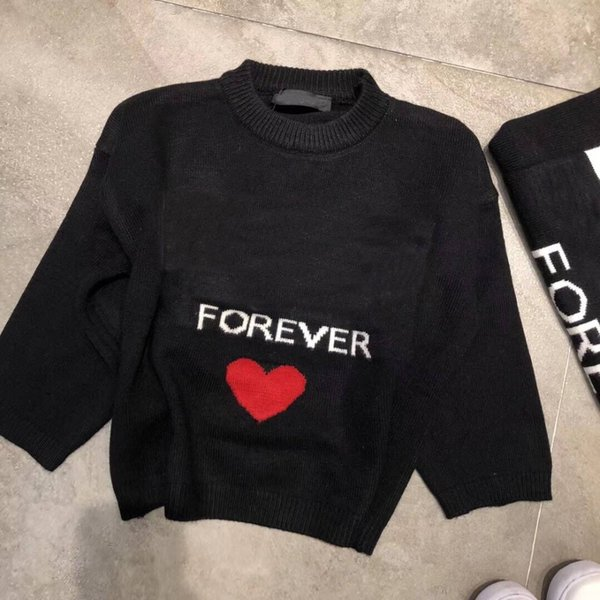 Kids Black Sweaters Kids Casual Sweaters For Winter Knitted Bottoming Boys Tops Clothes in stock