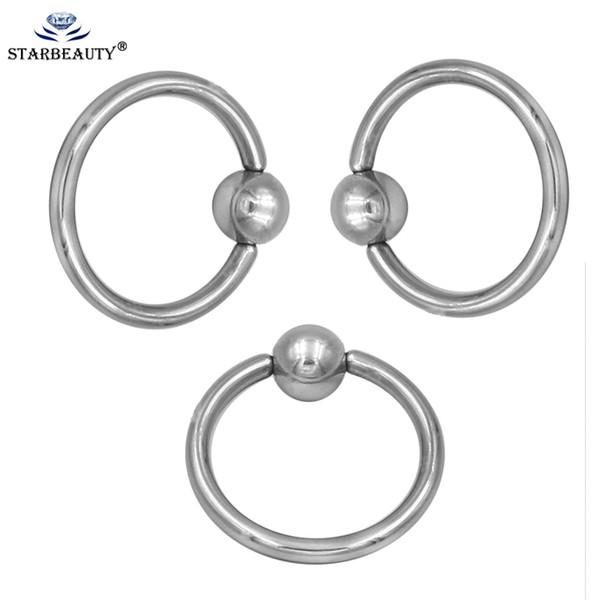 1 Adet Altın Gümüş BCR Vücut Piercing küpe tragus yüzük Cerrahi Paslanmaz Çelik Dairesel Barbells At Nalı Burun Yüzük Dudak