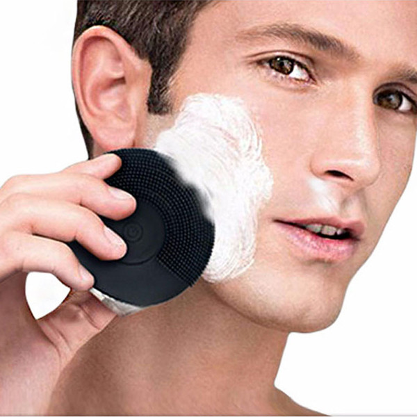New Ultrasonic Electric Face Cleanser Vibrate Pore Clean Silicone Cleansing Brush Massager Face Vibration Skin Care Spa Massage