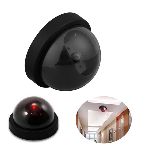 Dummy Camera Simulated Security video Surveillance Fake Dummy Ir Dome Camera with LED Sensor Light Santa Security Supplies Bulk Stock YW1506