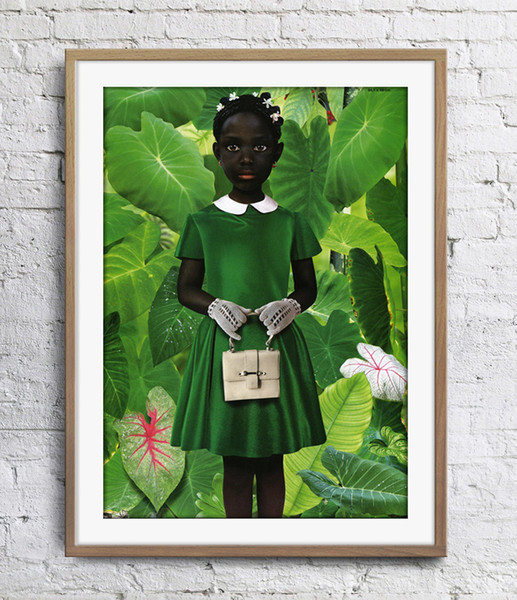 best selling Ruud van Empel Standing In Green Green Dress Art Poster Wall Decor Pictures Art Print Home Decor Poster Unframe 16 24 36 47 Inches