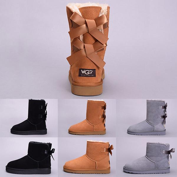UGG Boots Kış Kar Kadınlar Boot Avustralya Tall Kısa Diz Diz Ayak Bileği Çizmeler Siyah Gri Lacivert Kız Lady Açık Ayakkabı Boyutu 5-10 Satış Çevrimiçi