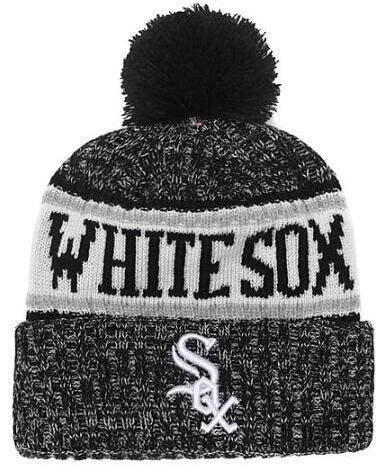 Winter Hat White Sox Beanie stripes Sideline Cold Weather Graphite Sport Knit Hat Wool Bonnet Warm Official Reverse Cap Beanie