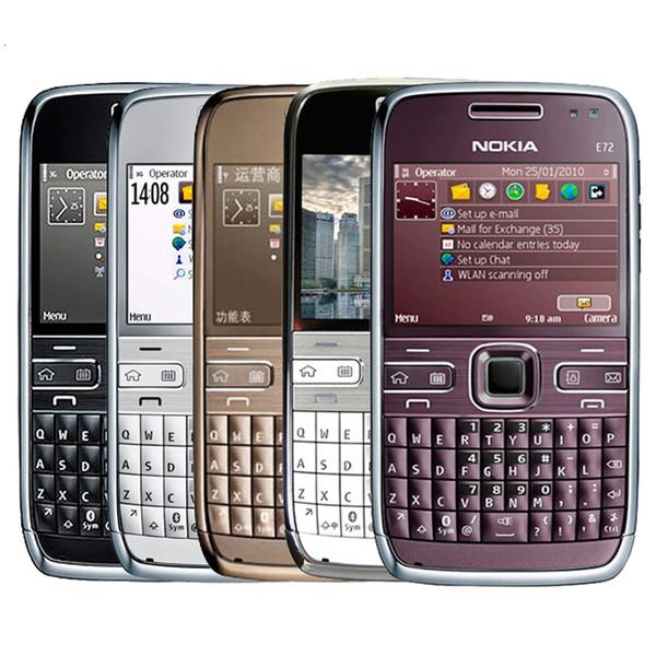 Remis à neuf Original Nokia E72 Déverrouillé Téléphone Portable Écran 2.36 pouces 5MP Caméra 3G Bluetooth GPS Clavier QWERTY Téléphone Free Post 1pcs