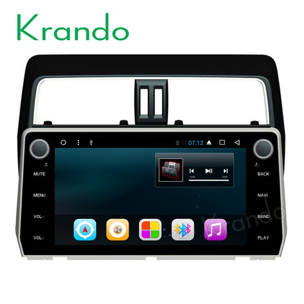 "Krando Android 8.1 10.1"" car dvd audio radio player navigation gps for toyota prado 2018 multimedia system playstore bluetooth"