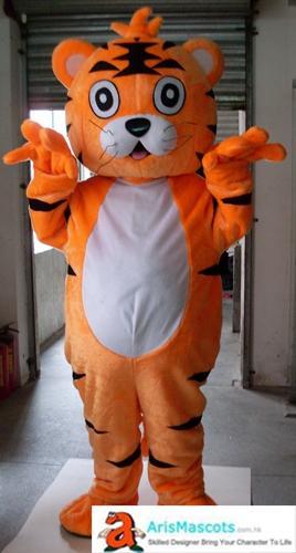 adult happy tiger mascot costume Custom Made Mascots for Advertising Team Mascot Custom Mascots Sport Deguisement Mascotte