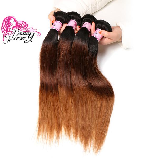 Beauty Forever Wholesale Brazilian Straight Ombre Hair 4 Bundles T1B 4 27 Cheap Bulk 100% Human Hair Weave Colored Peruvian Human Hair