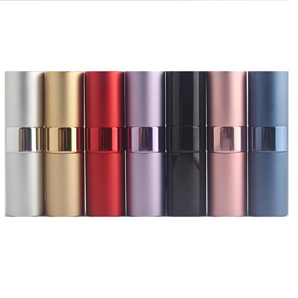 8ml 15ml mini portable perfume bottle travel aluminum perfume atomization bottle personal care glass perfume atomizer