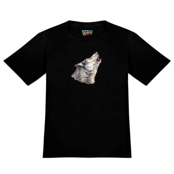Camiseta de la camiseta de la camiseta de la camiseta del jersey de la camiseta del hip hop de la camiseta de la camiseta de la camiseta del hip hop de los hombres del aullido del lobo