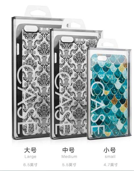 Caja de embalaje al por menor del paquete del PVC claro negro para el iPhone 6 7 8 más Samsung s7 8 para la caja del embalaje de la caja del teléfono celular