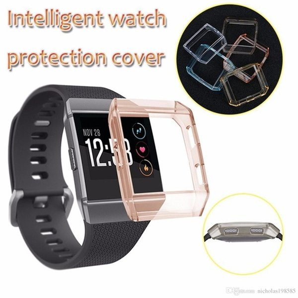 Best Transparent TPU Protector Protective Case Cover Shell Dust-proof Anti-scratch For Fitbit Ionic Smart Watch Accessories