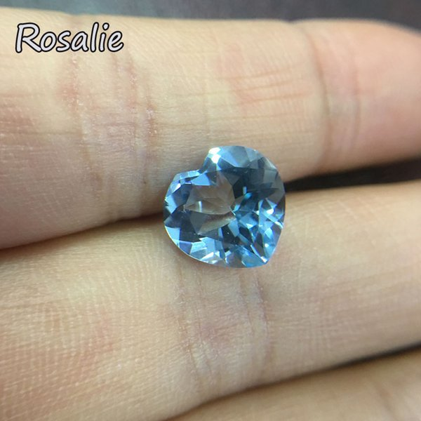 Rosalie,Natural Brazil sky blue topaz heart 11x11mm5.3ct loose real gemstone for silver jewelry special cut DIY jewelry design