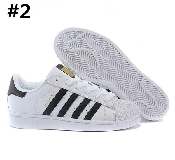 Compre AD07 7 Adidas Superstar 80s Sneakers Venta Al Por Mayor Para Mujer De Los Zapatos De La Estrella Del Super Casual Zapatos Para Caminar Al Aire