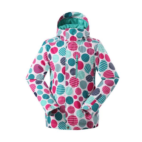 GSOU SNOW Winter Women's Ski Suit Outfoor Waterproof Warm Wear-resistant Windproof Single Board Ski jacket For Women Size XS-L