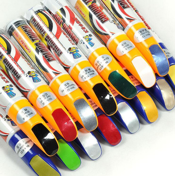 top popular Free Shipping Pro Mending Car Remover Scratch Repair Paint Pen Clear 39colors For Choices wholesale 2021