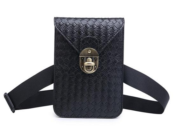 Women Waist Bag celular Fashion Weave Fanny Pack Belt Bag Mini Cell Phone Purse for Women Teenager Girls Messenger Bags
