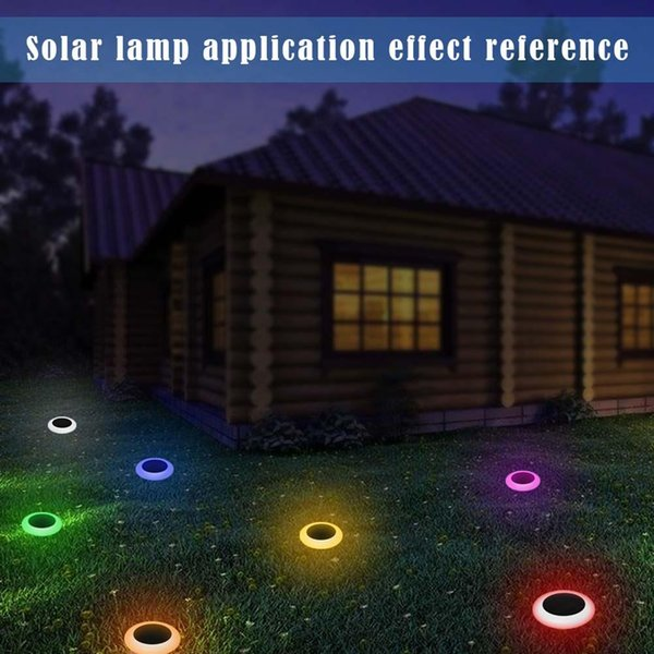 Outdoor Solar Power 7 Cambiare colore LED Garden Landscape Path Path Lights Luci Lampada da giardino impermeabile Pannello solare