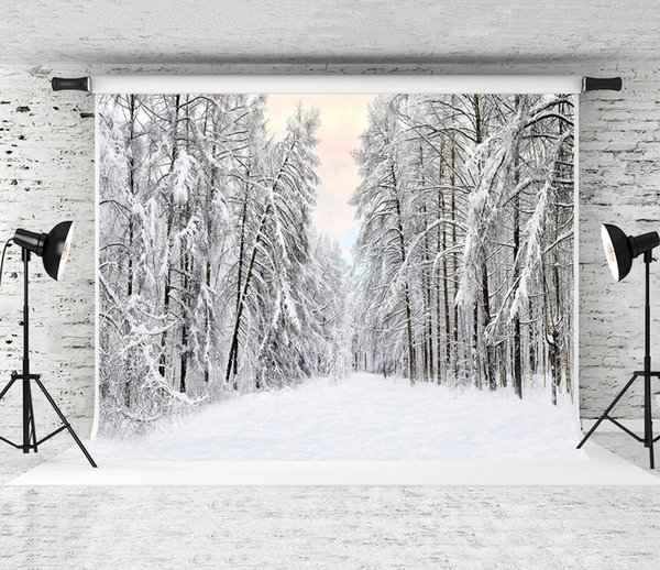 Dream 7x5ft/220X150cm Snow Scenery Backdrop White Snow Forest Photography Background for Photographer Winter Holiday Baby Photo Shoot Studio