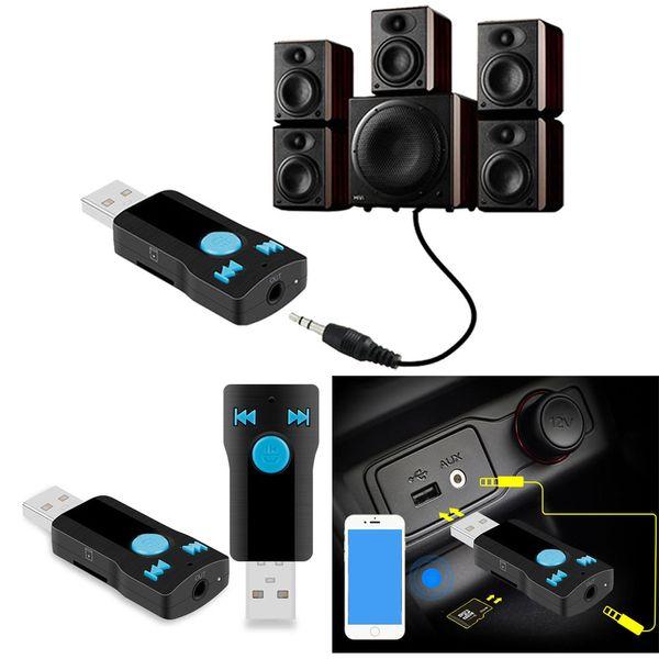 1 UNID USB Bluetooth Audio Inalámbrico Aux Music Receiver Adapter para Auriculares Altavoces Portátiles Y Coche Estéreo