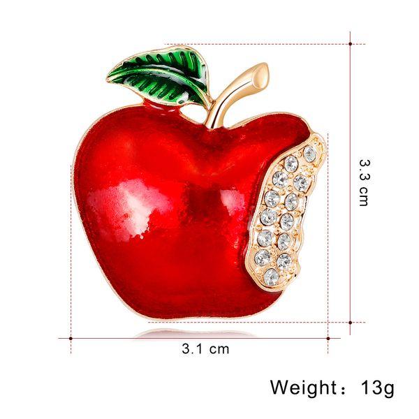 Compre Joyería De Navidad Europa Y América Dibujos Animados Apple