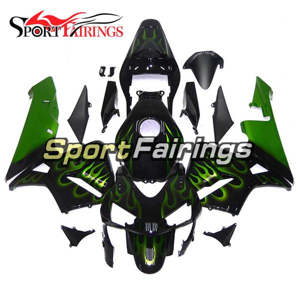 Carene iniezione nero verde fiamme per Honda CBR600RR 2003 2004 CBR600 RR 03 04 Carenatura moto plastica ABS Raccordi cappucci Scafo