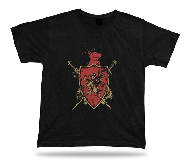 Warrior Griffin Sword and Shield unique unisex t shirt tee idea gift apparel
