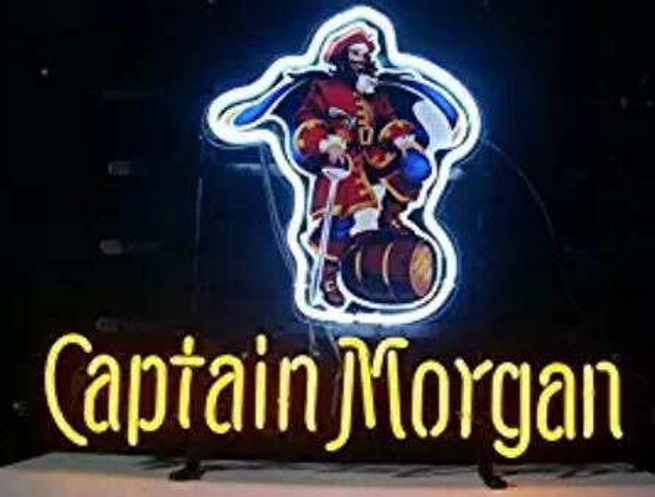 24*20 inches Captain Morgan DIY Glass Neon Sign Flex Rope Neon Light Indoor/Outdoor Decoration RGB Voltage 110V-240V