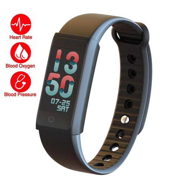 Tela de cor X6S Inteligente Monitor de Freqüência Cardíaca de Pressão Arterial de Oxigênio No Sangue Pulseira Inteligente Pulseira De Fitness Pulseira Rastreador Pedômetro