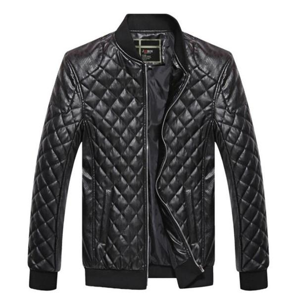 2018 новый мужской кожаная куртка байкер мужчины куртка панк мотоцикл бомбардировщик простой ПУ досуг мужская искусственного меха пальто XXL 3XL 4XL