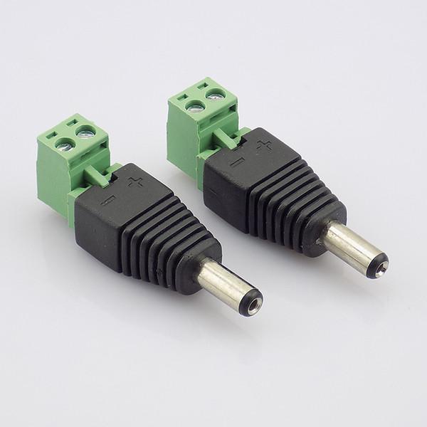 hohe qualität 100 stücke 2,1mm DC Stecker Netzstecker Adapter Netzteil CCTV Zubehör Für Überwachungskamera System DVR