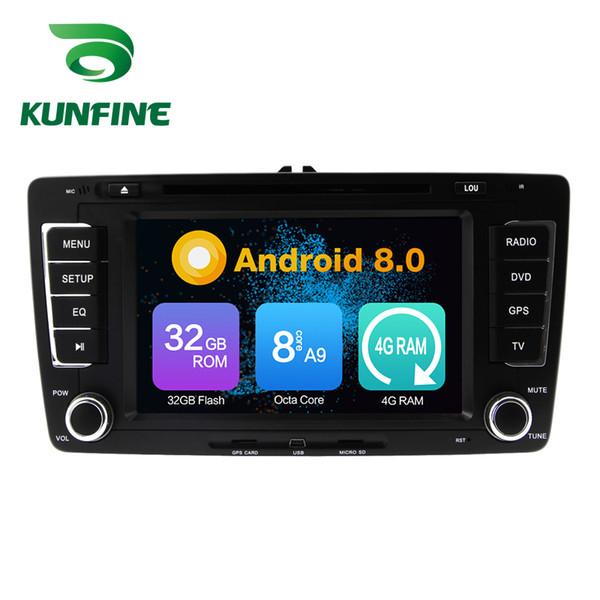 Octa Core 4GB RAM Android 8.0 Car DVD GPS Navigation Multimedia Player Car Stereo for VW Skoda Octavia 2013 Radio Headuint Wif